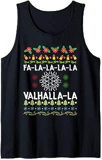 Fa-La-La-La Valhalla-La Viking God Ugly Christmas Tank Top
