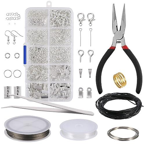 dbff80325754 Kit de Hacer Bisutería Kit de Reparación de Joyería Kit de Herramientas de  Principiante y Hacer