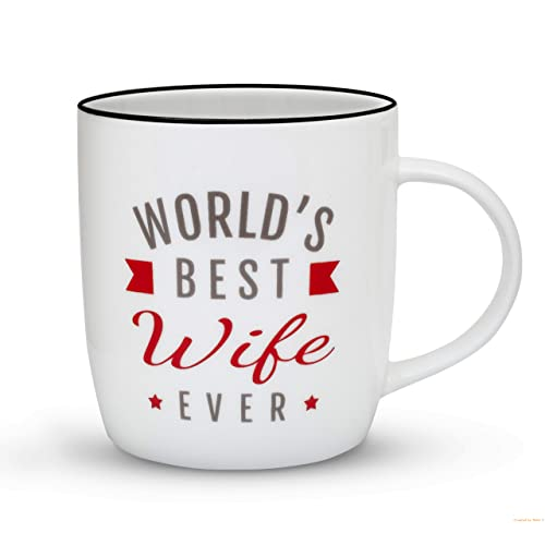 Gifffted Worlds Best Wife Ever Gift Mug Funny Gifts For From Husband Wedding
