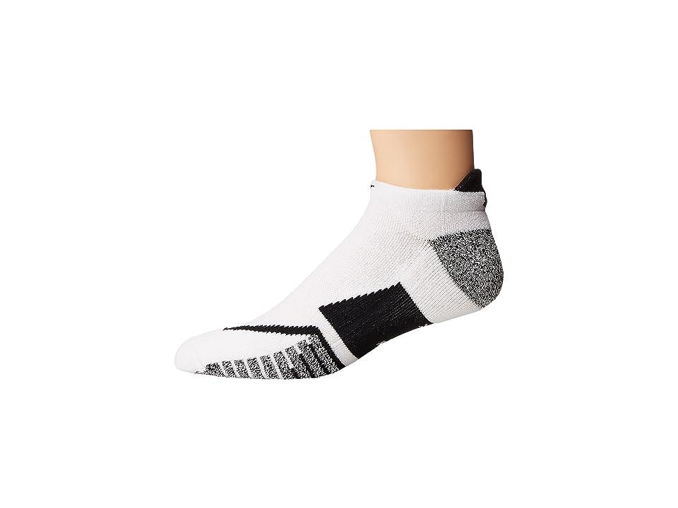 Nike NIKEGRIP Elite No Show Tennis Socks (White/White/Black) No Show Socks Shoes