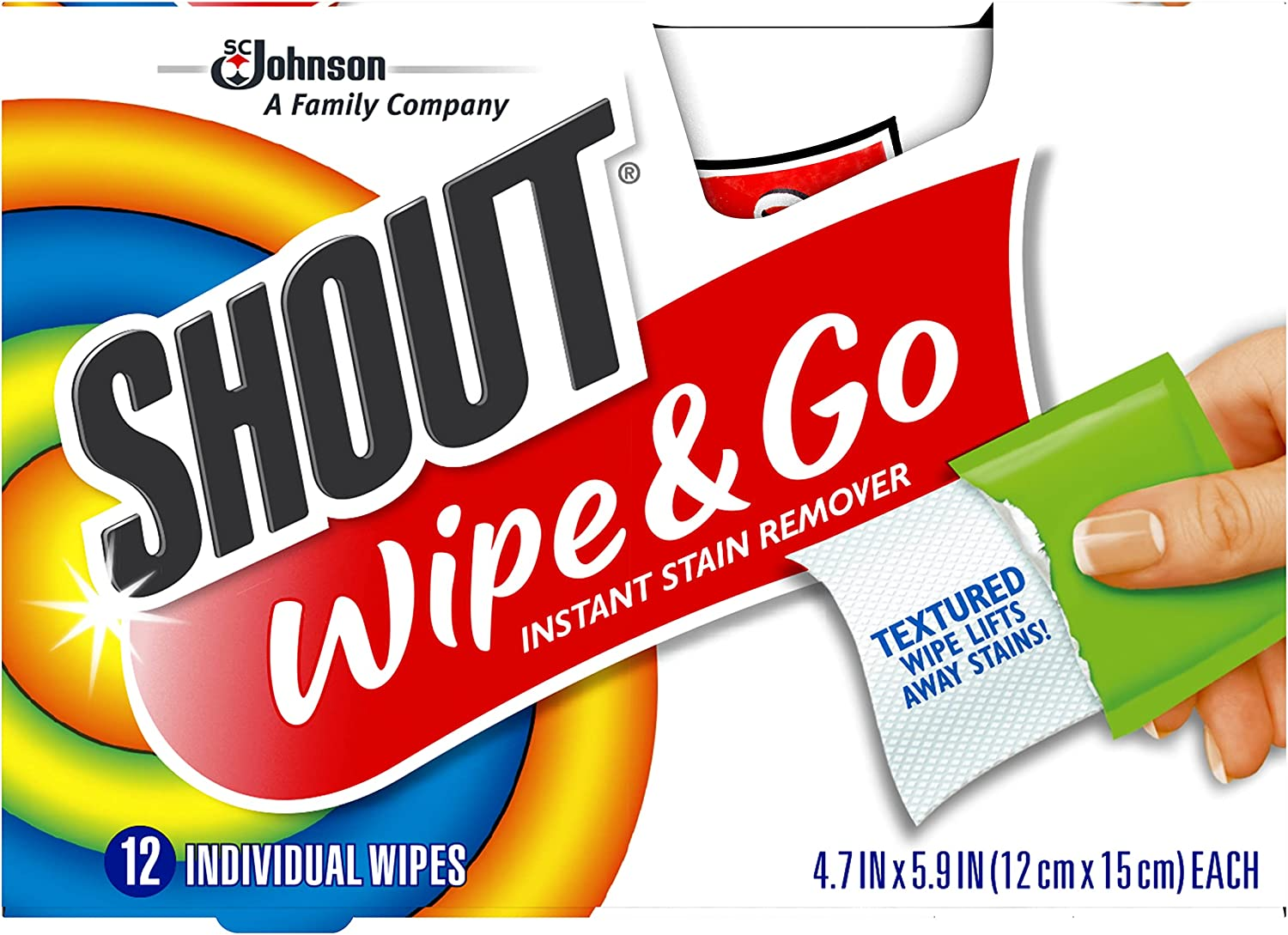 Shout Wipe and Go Instant Stain Laundry Al sold out. SEAL limited product for On-the-Go Remover S