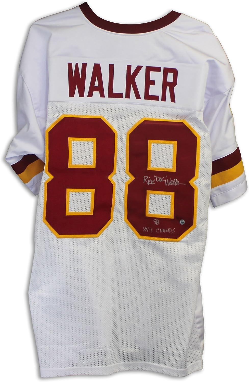 Rick Doc  Walker Washington Redskins Autographed White Jersey Inscribed SB XVII Champs
