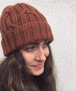 Acogedor sombrero acanalado de color terracota para otoño y invierno. Gorro de pescador, beanie, slouchy, unisex. Gorro de...