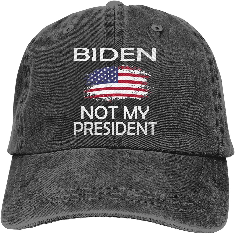 Biden is Not My President Men's Adult Cowboy Hat Hand Wash Cotton Cap Black