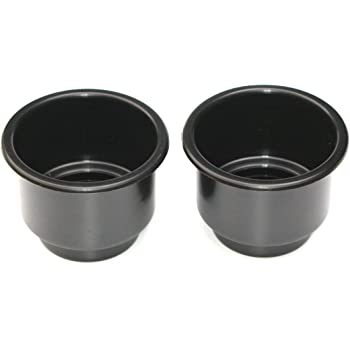 JSP Manufacturing 3 5/8 Black Jumbo Cup Boat RV Car Truck Poker Pool Table Sofa Inserts Large Size - 2 Pack (2)
