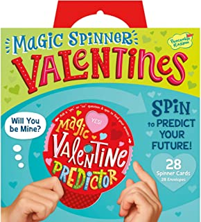 Peaceable Kingdom Magic Spinner Valentines - 28 Card Pack