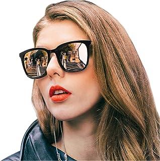 SIPHEW Polarized Sunglasses for Women, Mirrored Sunglasses-Fashion Oversized Eyewear with UV400 Protection
