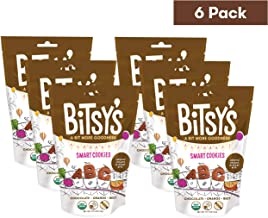 Bitsy's Organic Smart Cookies Chocolate Orange Beet 5 Ounce Gusset Bag (Pack of 6) Healthy Organic Nut-Free Snacks with Fruits and Vegetables for Kids