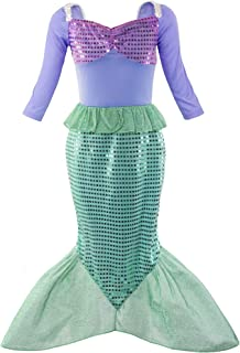 Little Girl Mermaid Princess Costume Sequins Party Dress