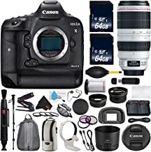 Canon 6Ave EOS-1D X Mark II DSLR Camera International Version (No Warranty) EF 100-400mm L is II USM Lens + Battery Grip Wildlife Sports Photography Bundle