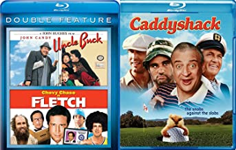 Caddyshack + Fletch & Uncle Buck Blu Ray 80's Comedy Spoof Set double feature bundle