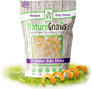 Nature Gnaws Bully Stick Springs - 100% Natural Grass-Fed...