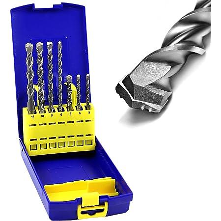 7 tlg Set SDS Plus Bohrer Steinbohrer Bohrhammer Betonbohrer Hammerbohrer Beton