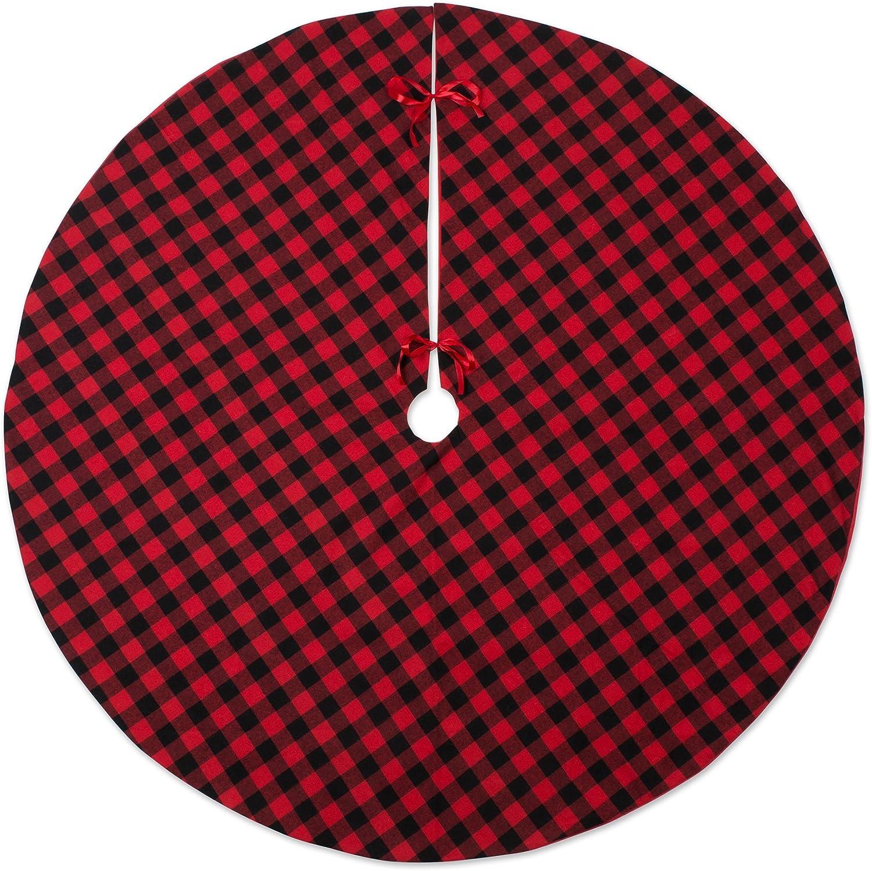 DII CAMZ10924 Christmas Ranking TOP16 Tree Skirt Ranking TOP1 Check Buffalo Red Black