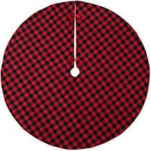 DII CAMZ10924 Christmas Tree Skirt, Red & Black Buffalo Check