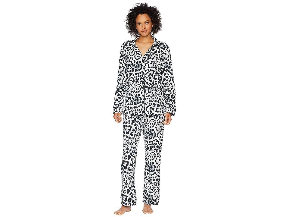 BedHead Long Sleeve Classic Knit Two-Piece Pajama Set (Wild Cat) Women