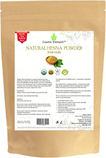 Cosmic Element USDA Organic Henna Powder 100% Pure & Unrefined, For Hair Dye/Color 4 Oz / 114 Grams/Updated Package Design ! Introductory Price ! New Launch ! Limited Time !