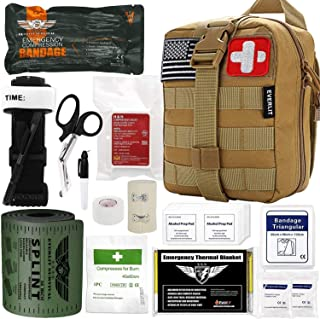Everlit Emergency Trauma Kit, Multi-Purpose SOS Everyday Carry IFAK for Wilderness, Trip, Cars, Hiking, Camping, Father's ...