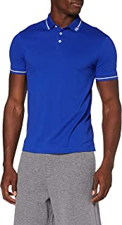 A|X Armani Exchange Men's Logo Collar Pique Polo, Marine, S