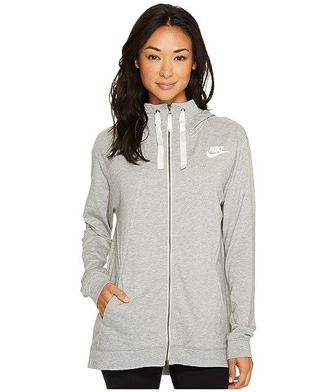 oscuro Hoodie Nike Sail Sportswear gris Full Classic Heather Zip Gym qRAAB0XwU