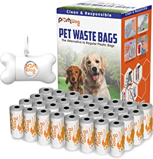 PoshWag Dog Poop Bags [360 Count] with Free Dispenser and...