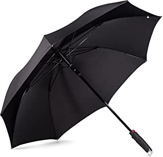 New Yorker Umbrella - Extra Large Windproof Umbrella 54 Inch Coverage with Automatic Open Full Size Quick Drying Teflon Canopy