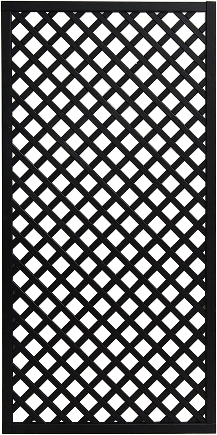 Andrewex wooden fence, fencing panel, garden fence 180x90, varnished, anthracite