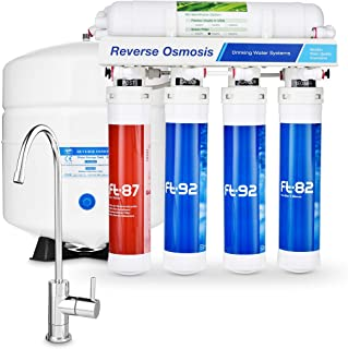 Flash Reverse Osmosis Under Sink Water Filter System | High Capacity 5 Stage Filtration System by RKIN | Includes a Chrome...