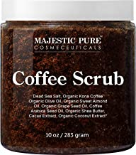 Majestic Pure Arabica Coffee Scrub – All Natural Body Scrub for Skin Care, Stretch..