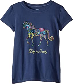 Swirly Horse Crusher T-Shirt (Little Kids/Big Kids)