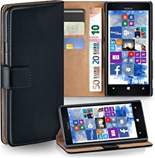 moex Nokia Lumia 1520 | Phone Case with Wallet 360 Degree Book Phone Cover with Card Holder - Black