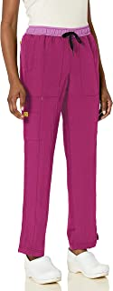 WonderWink Womens 5814A Four-Stretch Straight Leg Scrub Pant Medical Scrubs Pants - Purple - Large