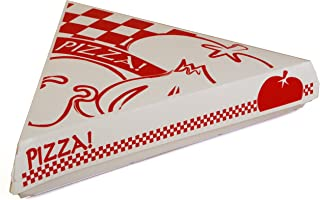 Southern Champion Tray 07196 Paperboard White Pizza Slice Clamshell Food Container with