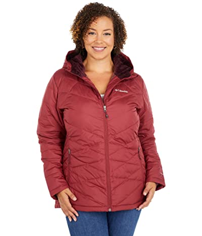 Columbia Plus Size Heavenly Hooded Jacket (Marsala Red) Women