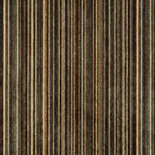 C252 Blue, Brown and Green Striped Chenille Upholstery Fabric by The Yard