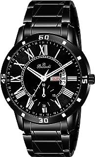 Buccachi Analogue Men's Watch (Black Dial Black Colored Strap)