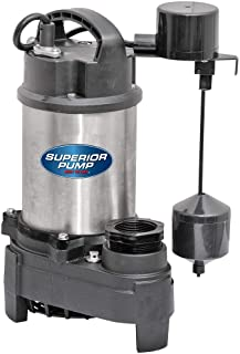 Superior Pump 3/4 HP 2 Inch Discharge Stainless Steel Vertical Switch Sump Pump