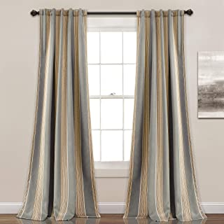 Amazon Com Window Curtain Panels Striped Panels Curtains Drapes Home Kitchen