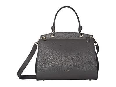 Furla Adele Medium Top-Handle (Asfalto) Handbags
