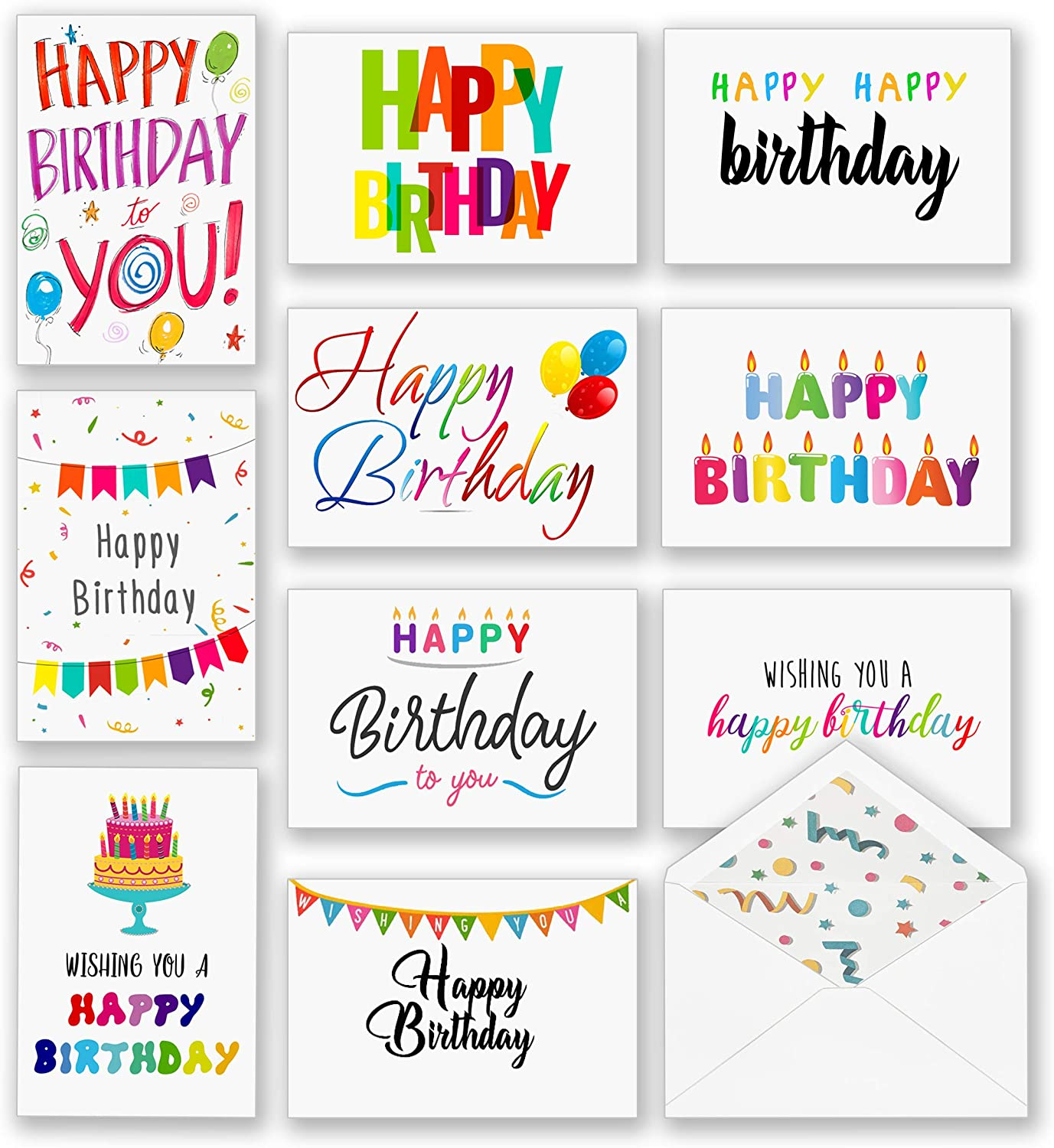 100 Happy Birthday Cards Jacksonville Mall Bulk Large Greeting Assorted Inch Courier shipping free shipping 5x7