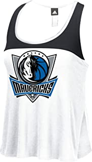 NBA Dallas Mavericks Women's Color Block Tank Top, Medium, White