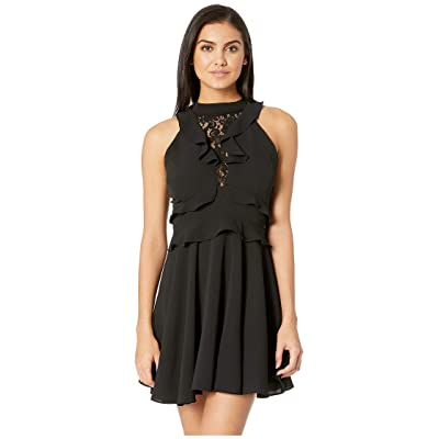 BB Dakota Crazy in Love Ruffle Dress (Black) Women