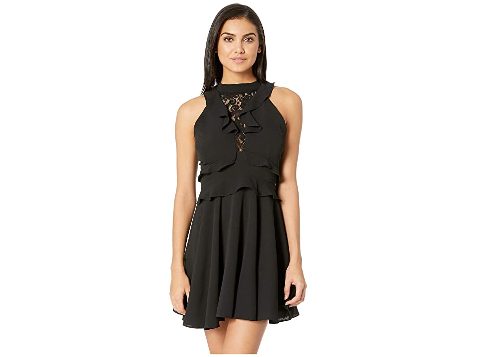 BB Dakota Crazy in Love Ruffle Dress (Black) Women
