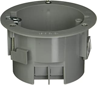 Hubbell-Raco 7922RAC Old Work Round 2-13/16-Inch Deep Non-Metallic Electrical Box with 4 x NMSC Clamps, 3-1/2-Inch