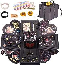 EKKONG Explosion Box, Creativo DIY Álbum de Fotos Scrapbook Caja Regalo para Cumpleaños Día de San Valentín Aniversario Navidad (Negro)