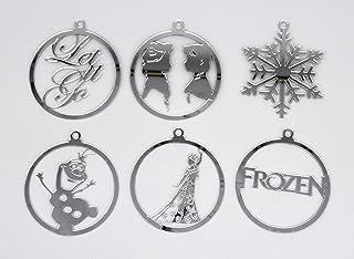 Bola de navidad Frozen, Olaf, Elsa. Adorno navideño para árbol.