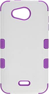 MyBat Cell Phone Case for KYOCERA C6740 Wave - Retail Packaging - Ivory/Purple/White