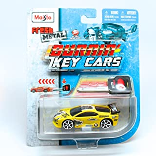 Burnin' Key Cars Street Speeder (Yellow) Maisto Fresh Metal Car with Classic Key Launcher