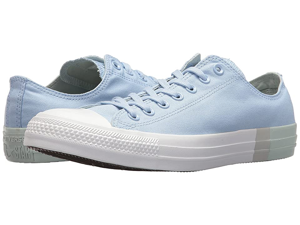 Converse Chuck Taylor(r) All Star Tri Block Midsole Ox (Blue Chill/Dried Bamboo/White) Classic Shoes