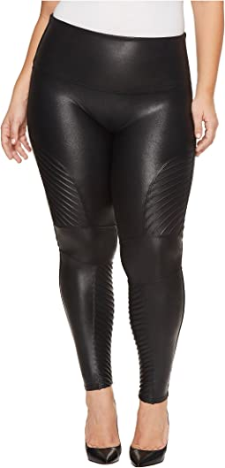 Spanx - Plus Size Faux Leather Moto Leggings